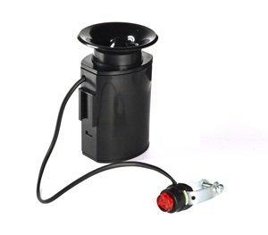 KLOUD City Black cycling bike electronic loud horn siren loudspeaker bell with 6 alarm sounds