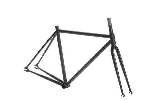 Pure Fix Fixed Gear Track Bike Frame Set, 54cm/Medium, Matte Black