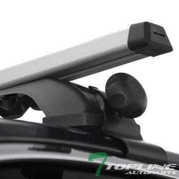 Topline Autopart 55″ Universal Silver Adjustable Aluminum Window Frame Roof Rack Rail Cros ...
