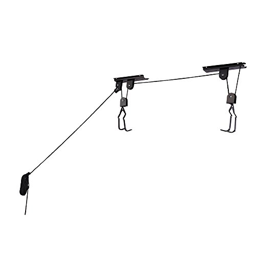 RAD Cycle Products Heavy Duty Bike Lift Hoist For Garage Storage 100lb Capacity Mountain Bicycle ...