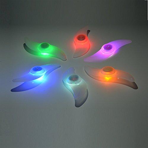 Bike Spoke Light 6PCS Willceal,Bike Wheel Light,Tyre Wire Right with 6 LED Flash Model Neon Lamp ...