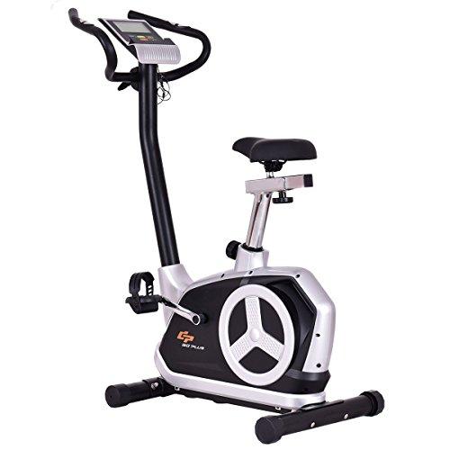 Goplus Upright Exercise Bike Flywheel Bike Bicycle Magnetic Resistance Cardio Fitness Equipment  ...