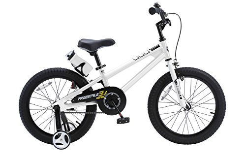 Royalbaby RB18B-6W BMX Freestyle Kids Bike, Boy's Bikes and Girl's Bikes with traini ...