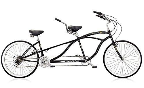 Micargi Island Tandem Bicycle, Black, 26-Inch