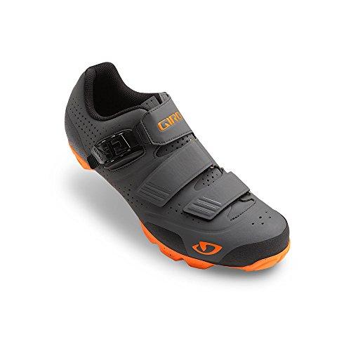 Giro Privateer R Cycling Shoes (Dark Shadow/Flame Orange, 41)