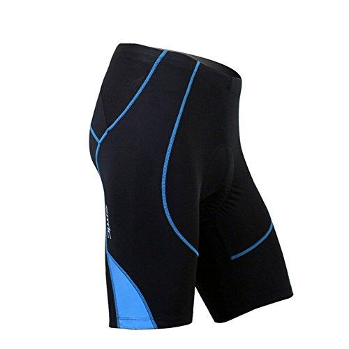 SANTIC Cycling Men's Shorts Biking Bicycle Bike Pants Half Pants 4D COOLMAX Padded Blue XXXL
