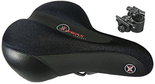 XWERX SX COMFORT ES LYCRA Most comfortable Bicycle Seat – GEL Foam, Elastomer Coil Spring  ...
