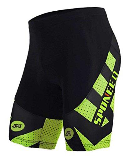 Sponeed Biker Shorts for Men Bike Riding Pants Padded Gel Bicycle Biking Half Pant Underwear Asi ...