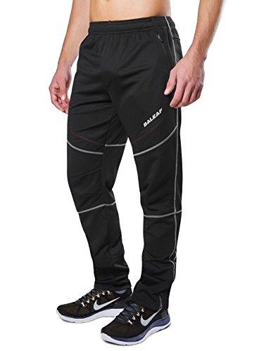 Baleaf Men's Windproof Bicycle Cycling Fleece Thermal Winter Pants Size XXL, Black
