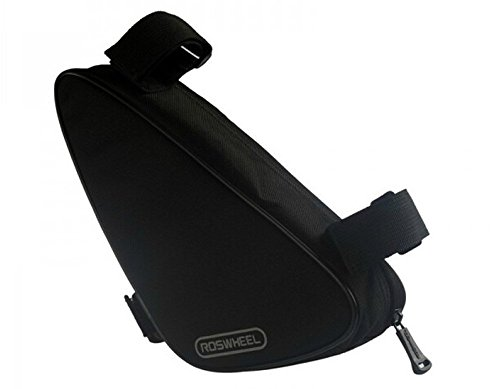 Water&Wood Roswheel Cycling Bike Bicycle Fron Frame Pannier Triangle Bag Saddle Bag Black