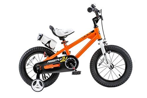 Royalbaby RB14B-6O BMX Freestyle Kids Bike, Boy's Bikes and Girl's Bikes with traini ...