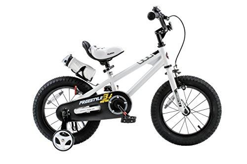 Royalbaby RB16B-6W BMX Freestyle Kids Bike, Boy's Bikes and Girl's Bikes with traini ...
