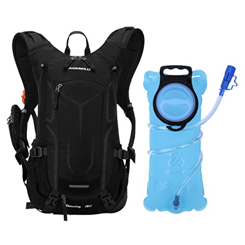 OUTON 18L Cycling Hydration Backpack with 2L Water Bladder, Lightweight Breathable Reflective Hy ...