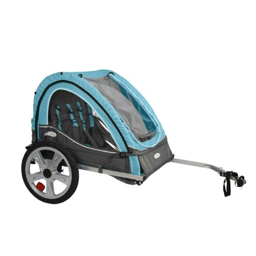 Pacific Cycle InStep Take 2 Double Bicycle Trailer,Light Blue/Gray