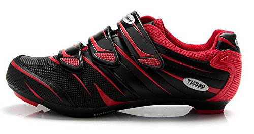 Tiebao Road Cycling Shoes Lock pedal Bike Shoes Cleated Bicycle Ciclismo Shoes Red 38