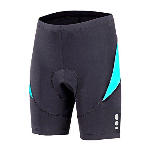 beroy Bike Shorts With 3D Gel Padded,Womens Padded Bike Shorts(L,Blue)