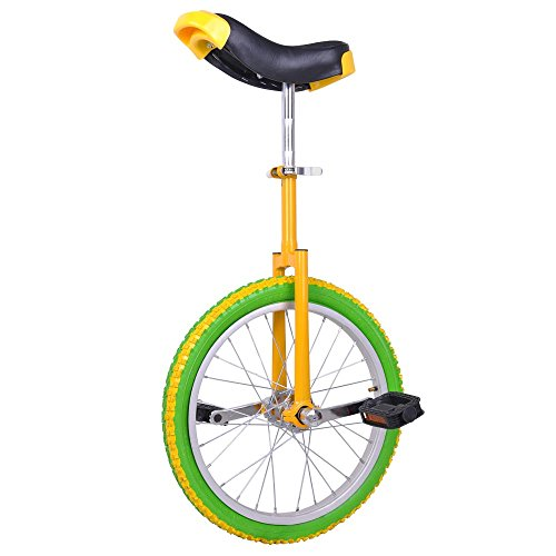 AW Yellow Green 18″ Inch Wheel Unicycle Leakproof Butyl Tire Wheel Cycling Outdoor Sports  ...