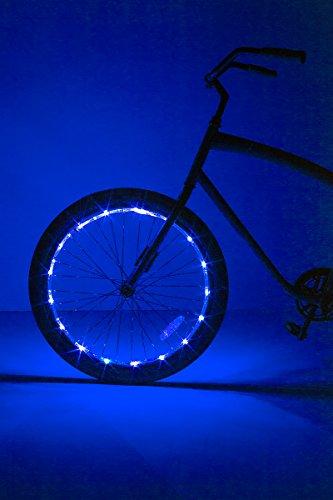 Brightz, Ltd. Wheel Brightz LED Bicycle Accessory Light (for 1 Wheel), Blue