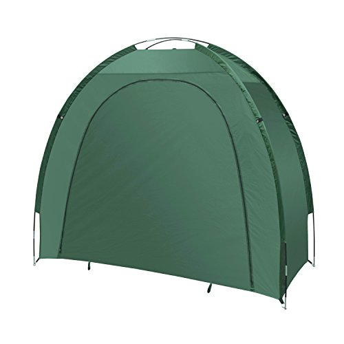 ALEKO BS70GR Bike Shed Bicycle Protective Waterproof Outdoor Storage 82 X 70 X 34 Inches, Green  ...
