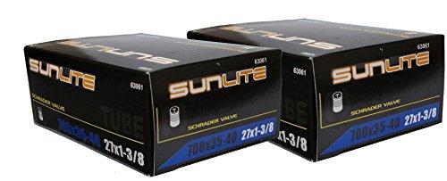 2 PACK – Tube, 700 x 35-40 (27 x 1-3/8) SCHRADER Valve 32mm, Sunlite