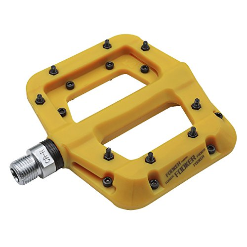 Fooker Nylon Composite 9/16″ Mountain Bike Pedals High-Strength Non-Slip Bicycle Pedals Su ...