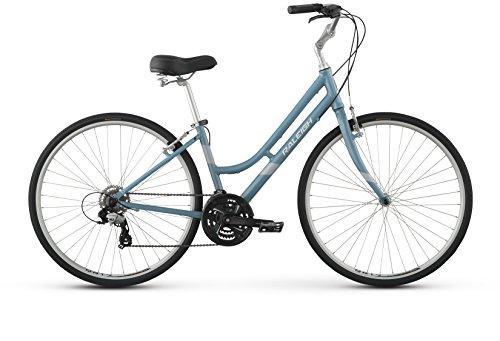 Raleigh Detour 2 Step Thru Comfort Bike, 17″ /MD Frame, Blue, 17″ / Medium