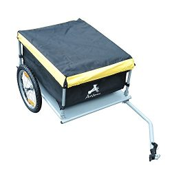 Aosom Elite Bike Cargo / Luggage Trailer – Yellow / Black