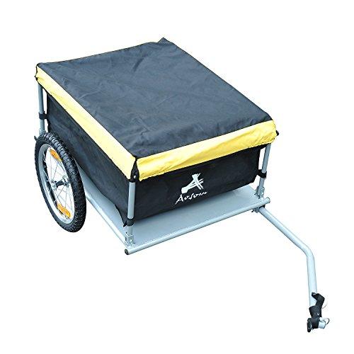 Aosom Elite Bike Cargo / Luggage Trailer – Yellow / Black