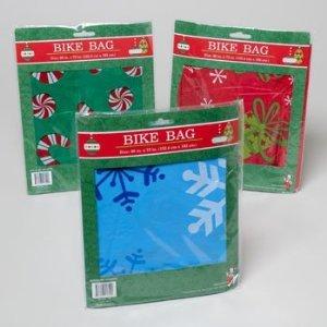 1 Plastic Christmas/Holiday Bike Gift Bag, 60×72