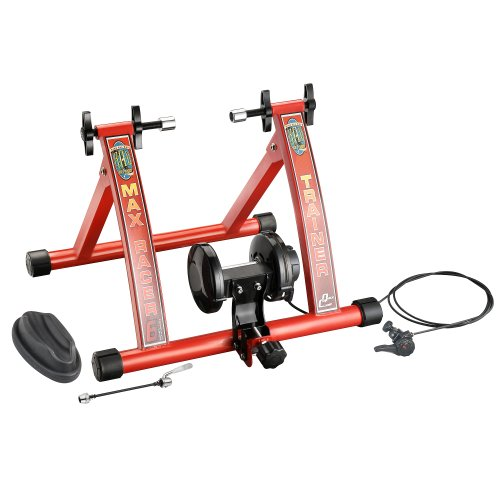 RAD Cycle Products Max Racer 7 Levels of with Smooth Magnetic Resistance Bicycle Trainer Allows  ...