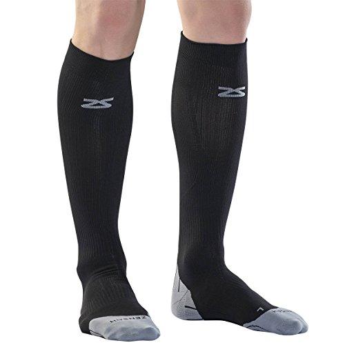 Zensah Tech+ Compression Socks, Black, Small