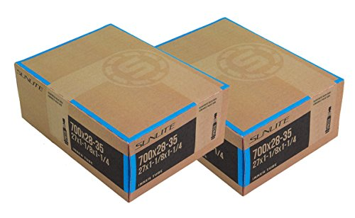 2 PACK – Tubes, 700c x 28-35 PV 60mm PRESTA Valve, Bicycle Inner Tube, Sunlite