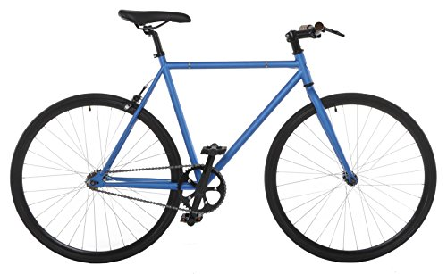 Vilano Fixed Gear Bike Fixie Single Speed Road Bike, Blue/Black, 54cm/Medium
