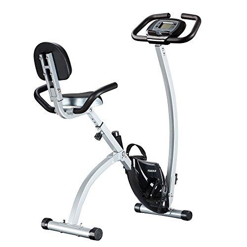 Exercise Bike – Adjustable Folding Upright Magnetic Stationary Bike for Home Gym