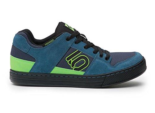 Five Ten Men's Freerider Approach Shoes, Blanch Blue/Solar Green, 13 D US