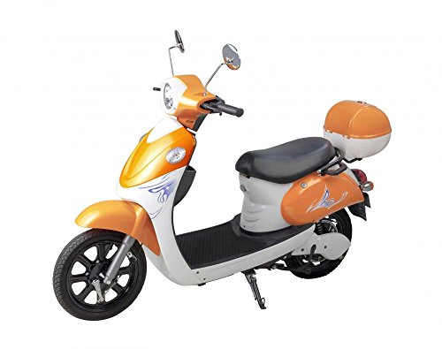 Electric Motor Bike White Wall Mural by Wallmonkeys Peel and Stick Graphic (30 in W x 24 in H) W ...