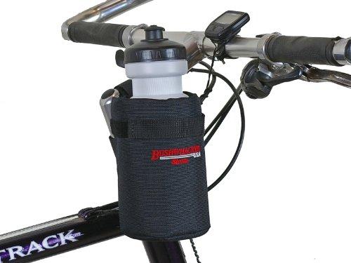 Bushwhacker Shasta Black – Insulated Bike Water Bottle Holder w/ 20 oz. Bottle – Two ...