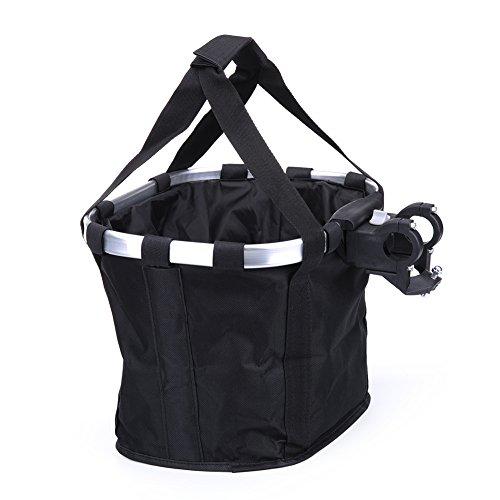 Pet Dog Bike Basket & Carrier Bag- Foldable Detachable Pet Travel Bicycle Basket – Sma ...