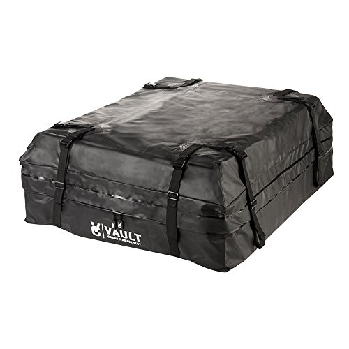 Waterproof Canvas Cargo Storage Roof Bag by Vault Cargo – On top of Car Bag – Straps to Cr ...