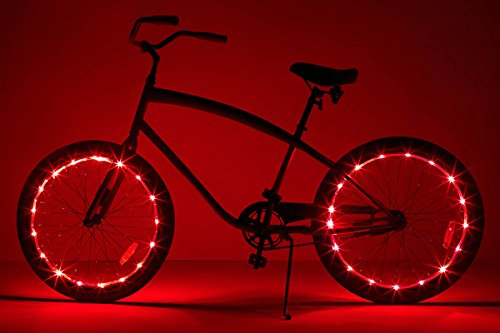 Brightz, Ltd. Wheel Brightz LED Bicycle Accessory Light (2-Pack Bundle for 2 Tires), Red