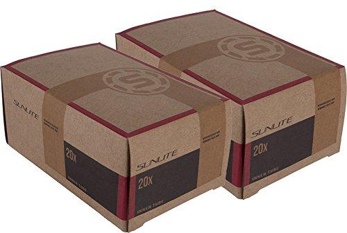 2 PACK – Tube, 20 x 1-1/8 32mm Reg SCHRADER Valve, Sunlite, BMX, Stroller, Youth Bike, Tod ...