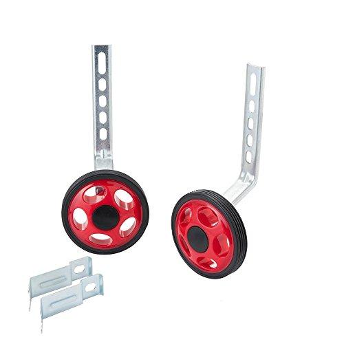 MORFAN Children Bicycle Training Wheels 12 14 16 18 20 22 Inch,Kids Bike Stabiliser(RED)