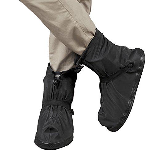 ArunnersTM 100% Waterproof Bike Shoes Covers Reusable Rain Snow Overshoes Travel Women Men(XXL,B ...