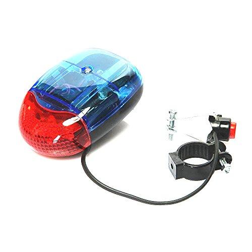 Qiorange New Waterproof Multifunctional 5 LED 8 Sounds 7 Flash Mode Cycling Bike Bicycle Warning ...