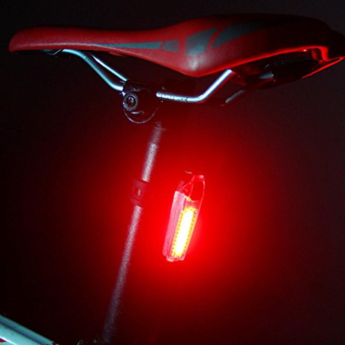 Ecosin Bicycle Tail Light Rechargeable COB LED USB Bike Tail Light MTB Safety Warning Bicycle La ...