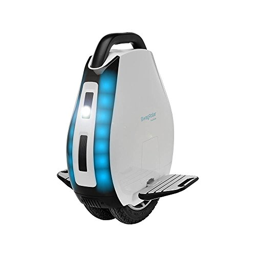 SWAGTRON SwagRoller Electric Unicycle: Multi-Terrain Dual Air-Filled Tires; Retractable Handle;  ...