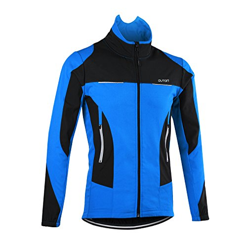 OUTON Men's Cycling Jacket Windproof Breathable Lightweight Reflective Warm Thermal Stand- ...