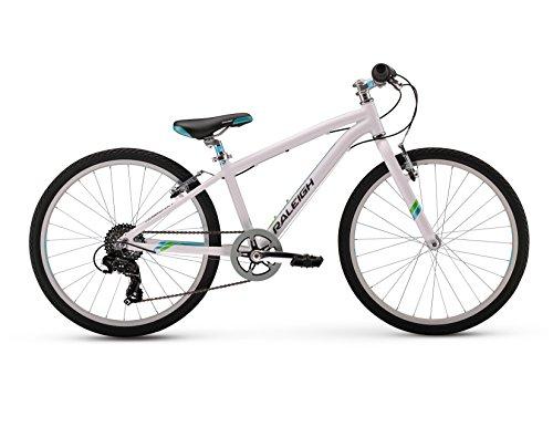 Raleigh Bikes Girls Alysa 24 Urban Fitness Bike, 24″/One Size, White