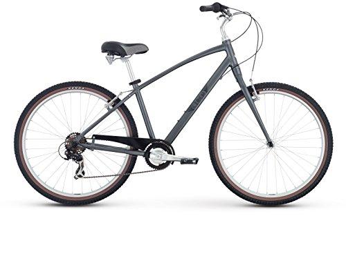 Raleigh Bikes Circa 1 Comfort Bike, 19″/Large, Silver