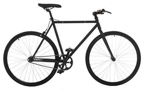 Vilano Fixed Gear Bike Fixie Single Speed Road Bike, Matte Black, 54cm/Medium